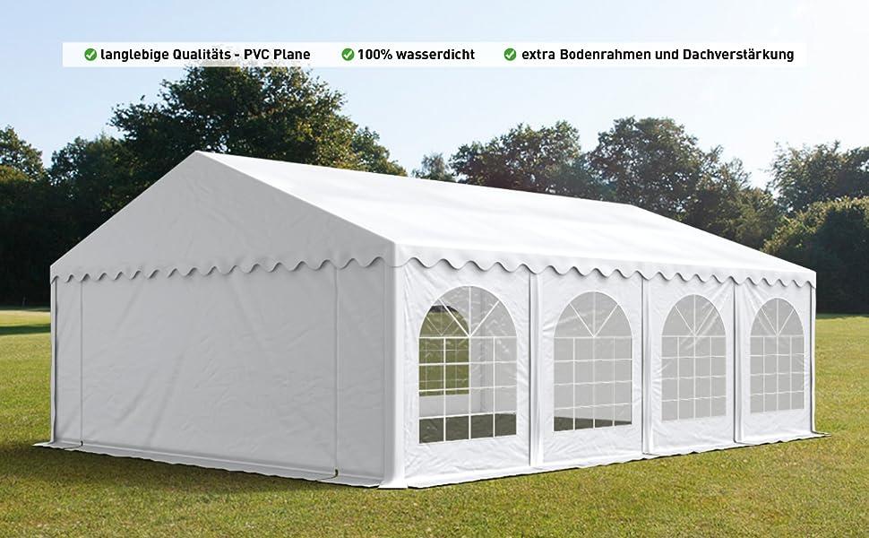 500g//m/² Lona PVC en Blanco Impermeable TOOLPORT Carpa para Fiestas Carpa de Fiesta 3x4 m Carpa de pabell/ón de jard/ín Aprox