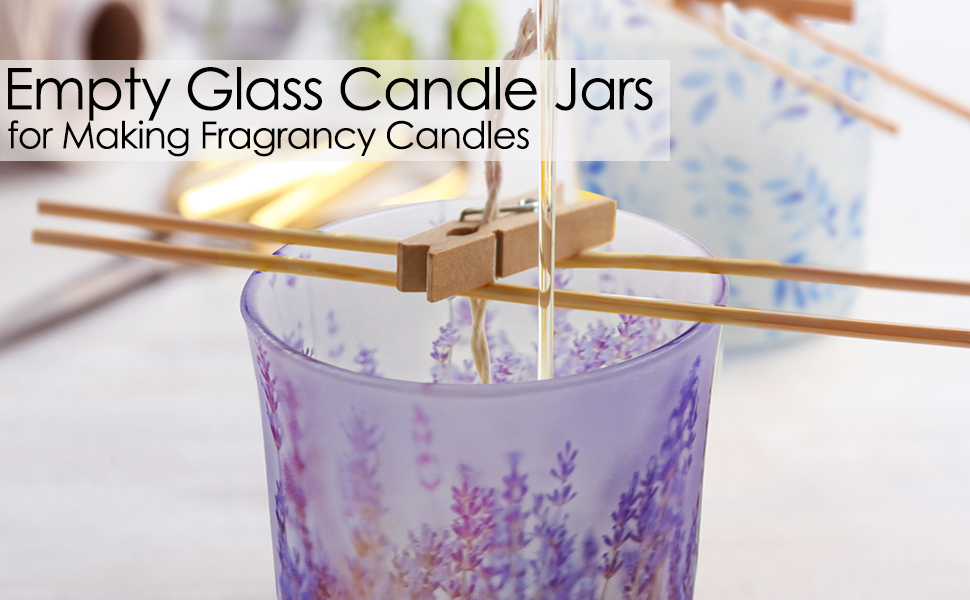 glass jars for candles