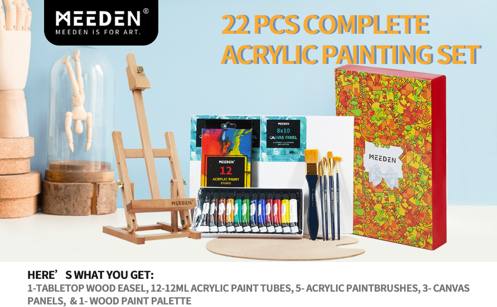 Easel Painting Set Acrylic Painting Set professional art supplies painting table artist artist set