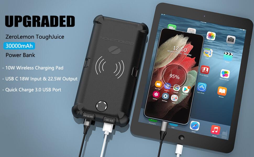 ZEROLEMON ToughJuice 30000mAh USB C PD Portable Charger External Power Bank