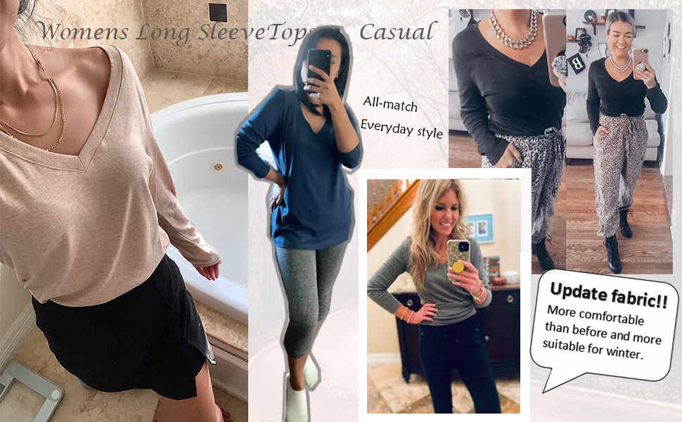 long sleeve shirts for women update fabric