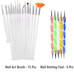 Store2508 Super Value Combo Kit of Nail Art Tools – 3d Nail Art, Nail Stamping Image Plates