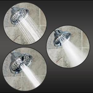shower head, rainfall shower head, adjustable shower head, waterpik shower head, black shower head