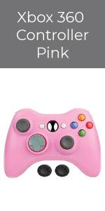 Bek Xbox 360 Wireless Controller Game Pad Microsoft Xbox 360 Slim PC Windows Thumb Grips Pink