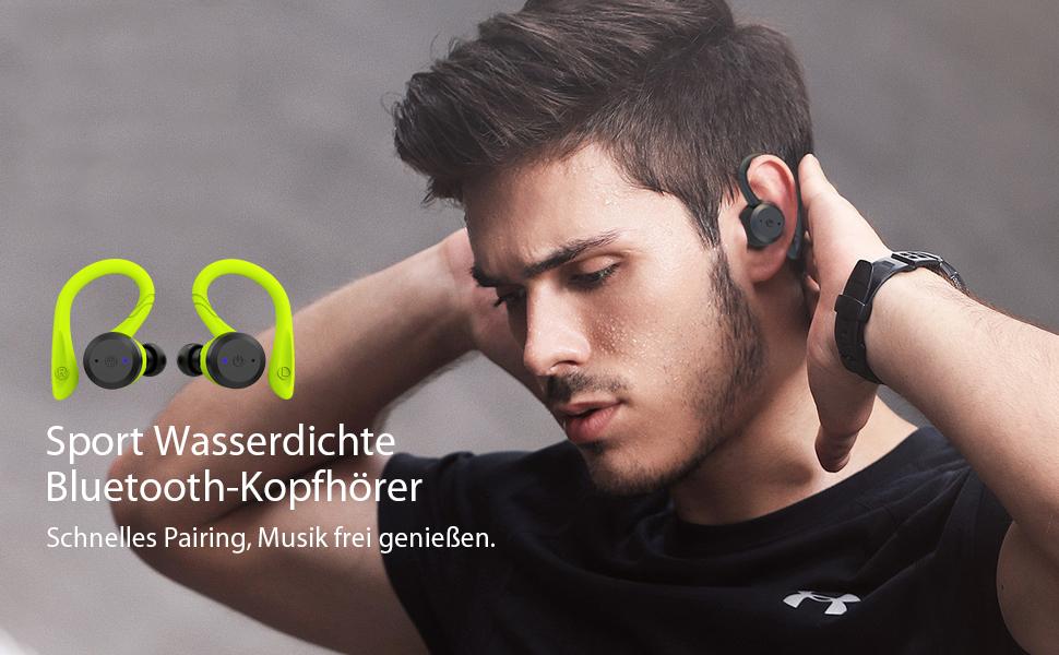 Sport Wasserdichte Bluetooth-Kopfhörer