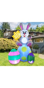 6 ft Tall Easter Bunny amp; Eggs