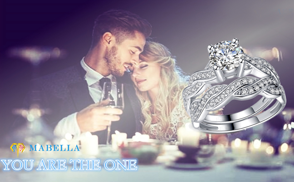 Infinity true love eternity wedding ring band set