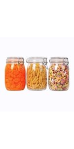 airtight glass jar