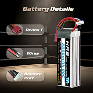 22.2v 3300mah 60c deans t lipo battery