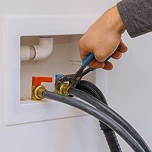 Washing machine inlet hose pliers