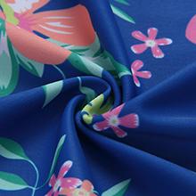 Girls' Long Sleeve Zip Up Floral Print Two Piece Rashguard Set