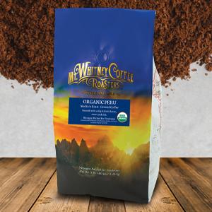 Mt. Whitney Organic Shade Grown Coffee from Peru Ground Coffee
