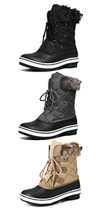 Fashion High Top Side Zipper Casual Shoes Outdoor Anti-Slip Walking Boots BREATHABLE WARM LINING