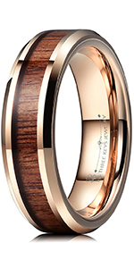 6mm rose gold tungsten ring