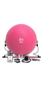 Exercise Ball with Ball Pump
