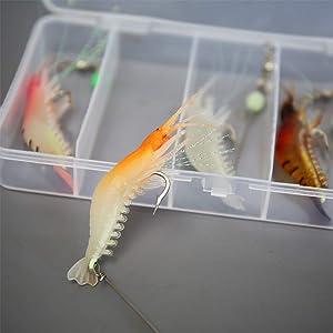 Soft Lures Shrimp Bait Set