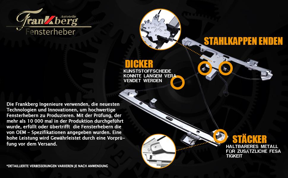Frankberg Fensterheber Elektrisch Mit Motor Vorne Links Für Fortwo City Cabrio 450 1998 2007 C0002691v001 Baumarkt