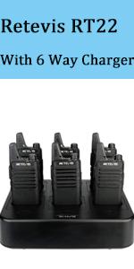 Retevis RT22 Walkie Talkies Rechargeable