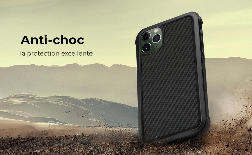 pitaka Coque iPhone 11 Pro Max 6.5'' MagEZ Case Pro en Aramide et Premium TPU Excellente Protection Contre Le Choc et la frottement l'étui Solide et Résistant Noir/Gris(Sergé)