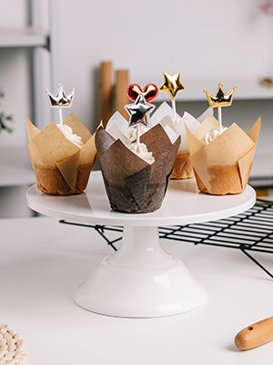 Katbite Greaseproof Tulip Cupcake liners