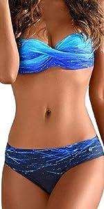 Bikini Set Donna in Tinta Unita