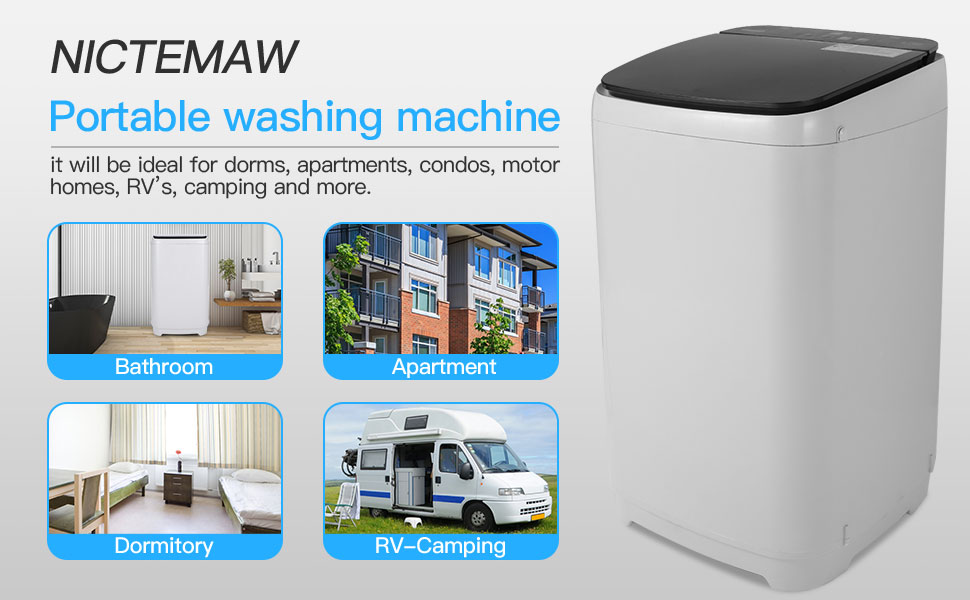Nictemaw Full Automatic Portable Washing Machine