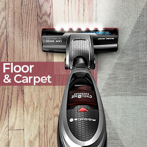 roomie tec vacuum cleaner cordless with powerful suction for floor and carpet