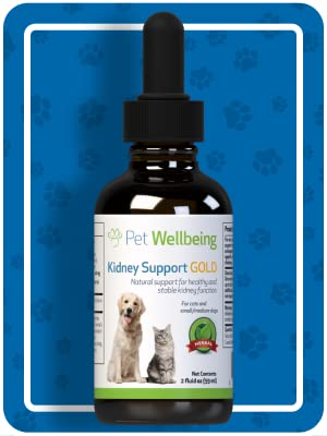 Amazon Com Pet Wellbeing Kidney Support Gold For Dogs Natural Support For Canine Kidney Health 4 Ounce Pet Supplies