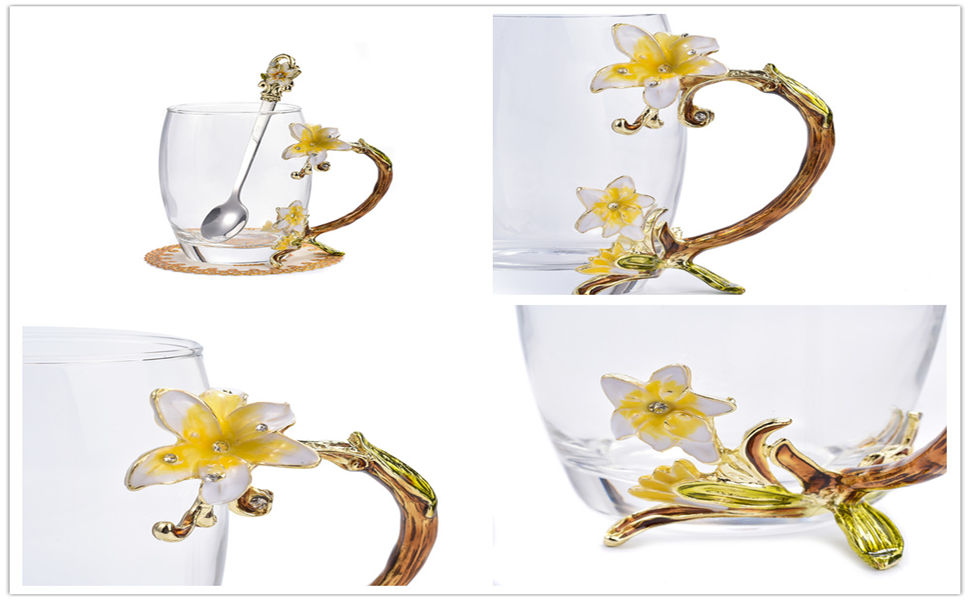 gifts for women,mugs for women,glass teacup,birthday glass teacup