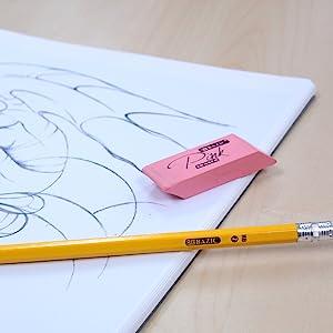 Pink Bevel Eraser
