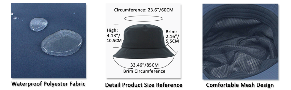 Details & Size of the breathable sun hat
