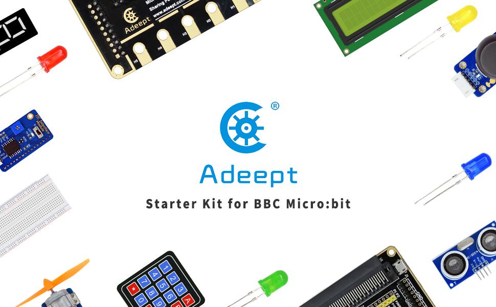 Adeept BBC Micro Bit Starter Kit Elektronisches Mikrobit-Starter-Kit f/ür Micro Bit mit 31 Projects Tutorial Book
