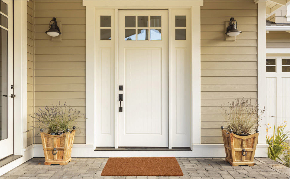 doormat on front porch