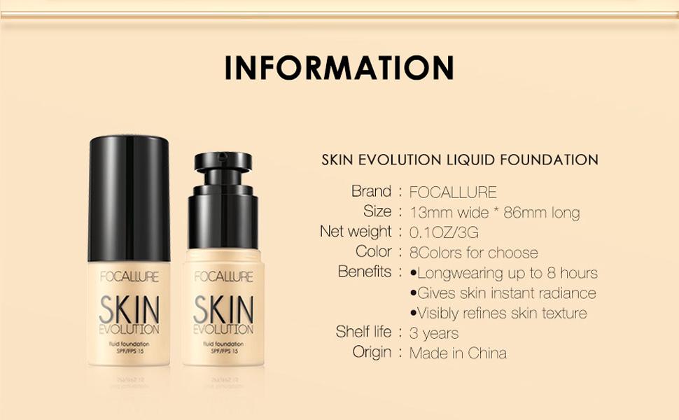 Focallure 2 Pcs Matte Foundation Cream, high Coverage Liquid