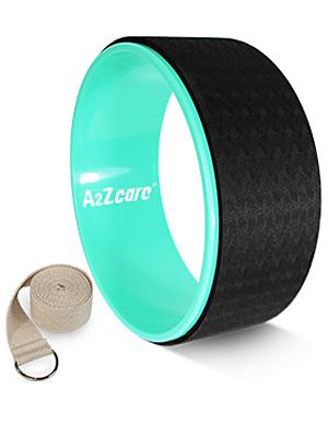 yoga wheel and strap