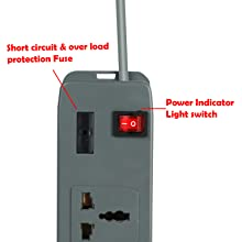 Universal Socket Round Extension Cord