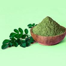 Spirulina plant powder in bowl