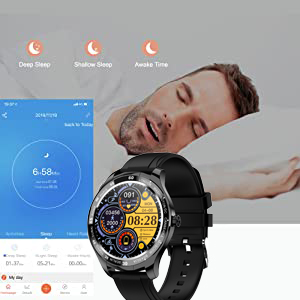 smart watch  Smart Watch, Fitness Tracker with Heart Rate Monitor, IP68 Waterproof Smartwatch 1.3″ Touch Screen, Activity Tracker Step Counter Sleep Monitor Message Call Pedometer for Women and Men fde41917 403e 402f b582 be5bac60ab9e