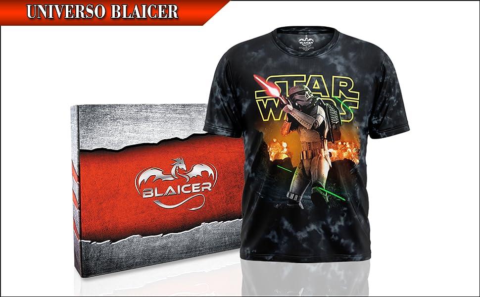 BLAICER Camiseta Star Wars Hombre Manga Corta con Cuello Redondo ...
