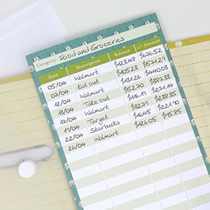 Cash envelope monthly tracker budgeting system expenses folder financial index organizer