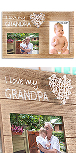 New Grandpa Gifts Frame Pregnancy Announcement Grandfather presents birthday ultrasound