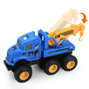 6pcs Construction Toys with Excavator Dump Crane Ladder Digger Truck Cars
