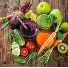 green fruit and vege