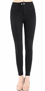 8002-Black Skinny Stretch Dress Pants