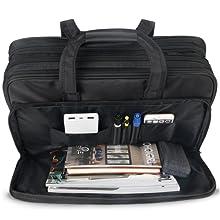 Vorderes Fach mit Organizer Taschen