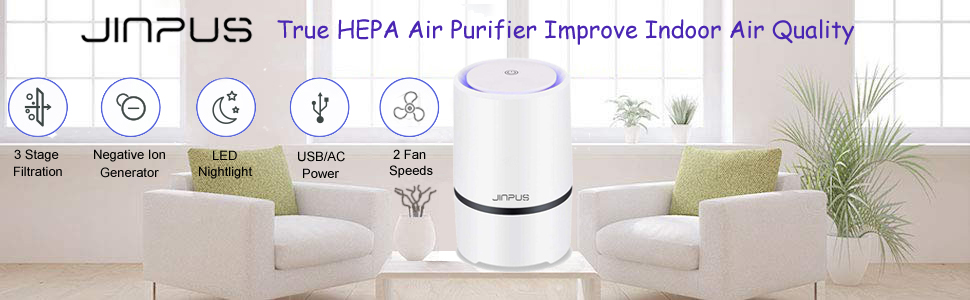 JINPUS True HEPA air purifier improve indoor air quality