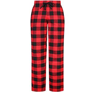 DOKKIA Pantalones de pijama de franela para mujer dise/ño de cuadros de b/úfalo