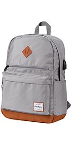 daypack, backpack, bookbag, water resistant, unisex, fabric, brentano