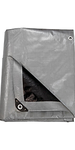 heavy-duty multi-purpose gray/black tarp