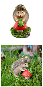 fairy garden miniature hedgehog animal figurine